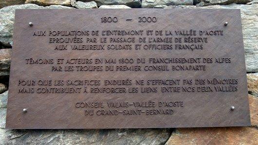 Plaque commémorative Napoléon complète
